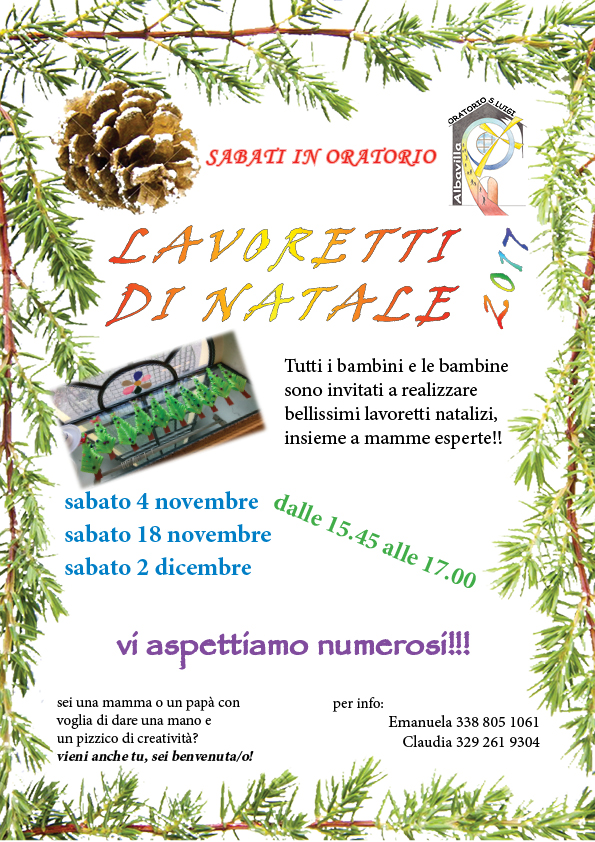 Parrocchie di albavilla e carcano home for Lavoretti di natale 2017